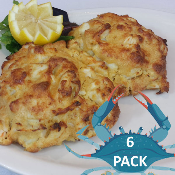 6 Maryland Crab Cakes @$16.50 ea