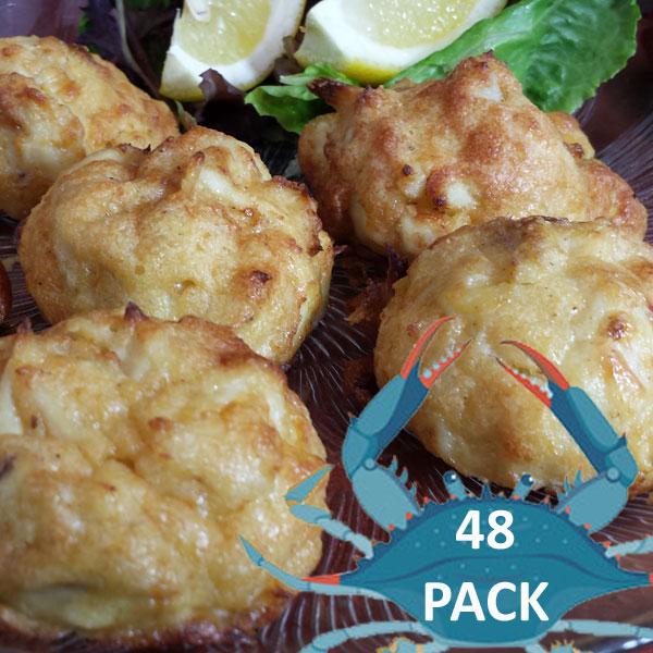 Jumbo Lump Crab Balls 48 Pack @$55 per dozen